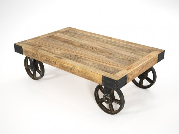 Industrial Cart Coffee Table 3