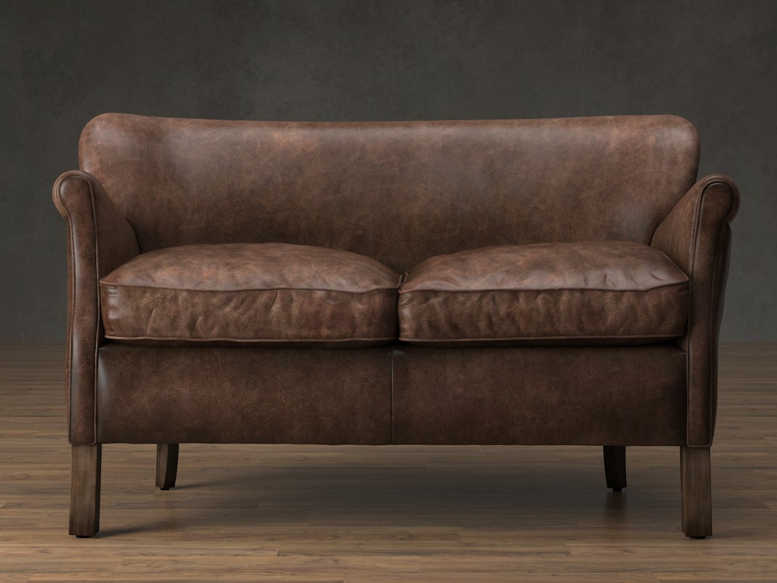 Professor 39 S Leather Double Chair 3D Modell Restoration Hardware