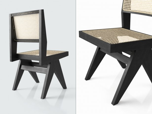 Restaurant Furniture In Chandigarh : Chandigarh armless dining chair d model