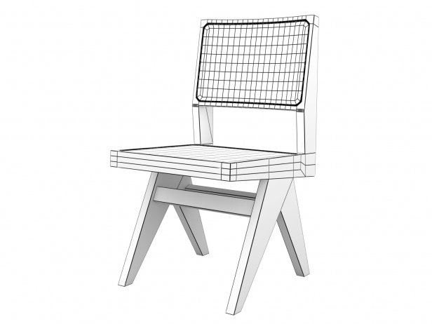Chandigarh Armless Dining Chair 5