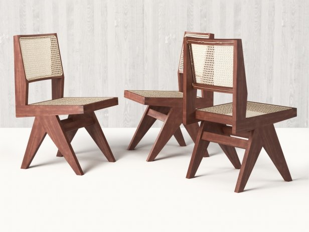 Chandigarh armless dining chair d model