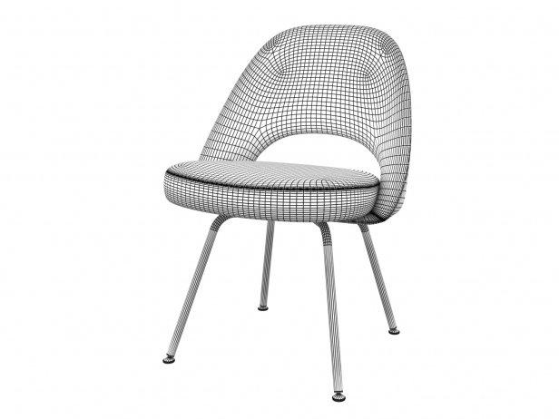Saarinen Executive Chair Steel Legs 6