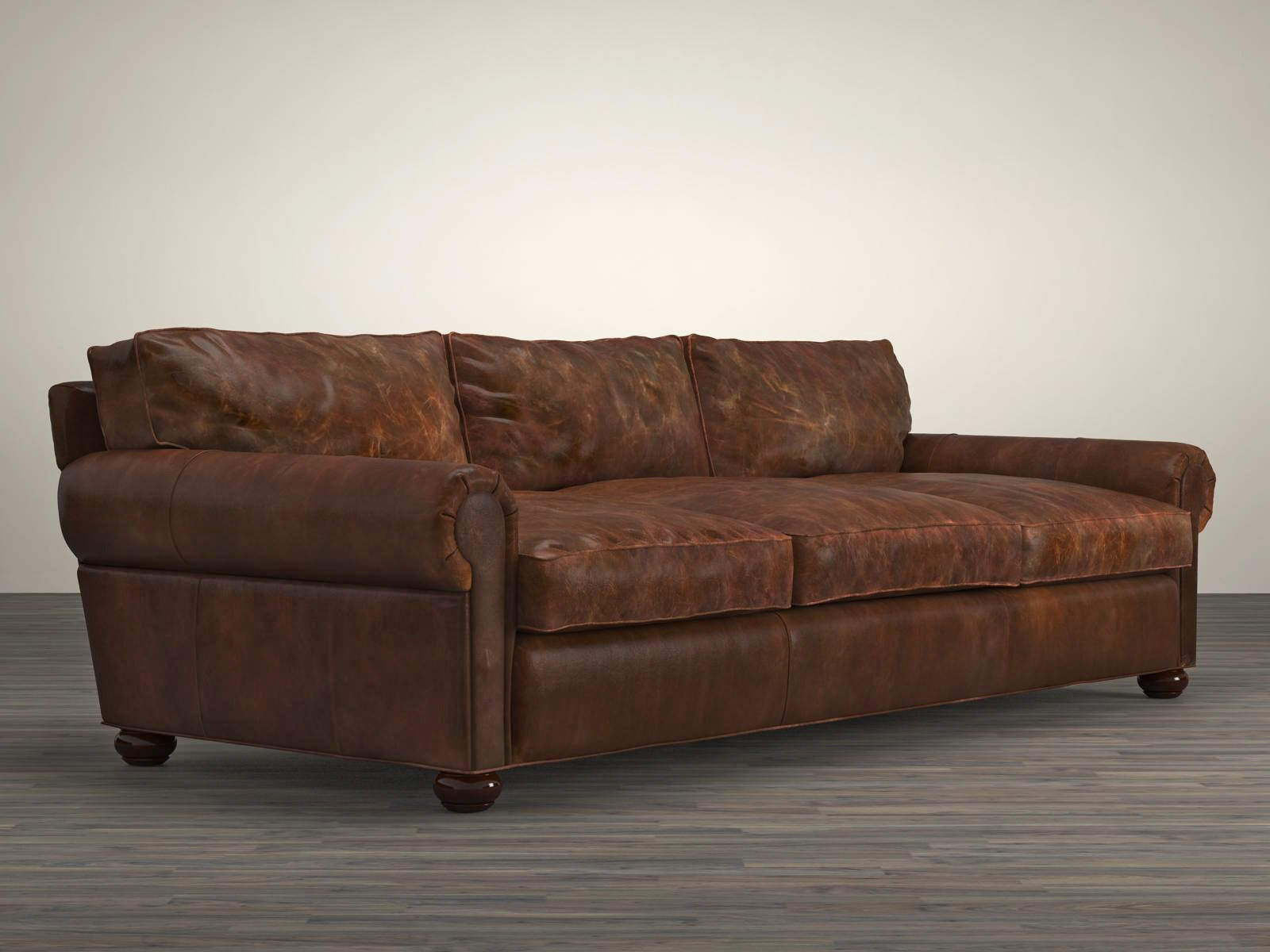 Restoration Hardware Leather : Quot lancaster leather sofa d model restoration hardware