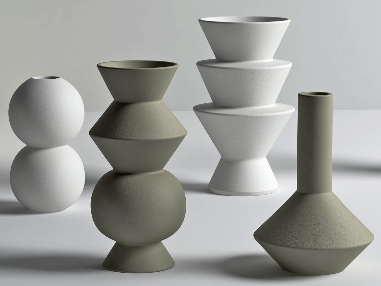 Geometric Vases 3d Model Ferm Living
