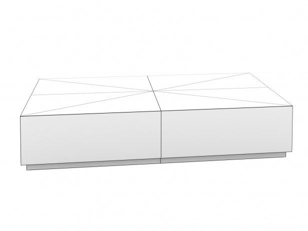 Machinto Rectangular Coffee Table 12