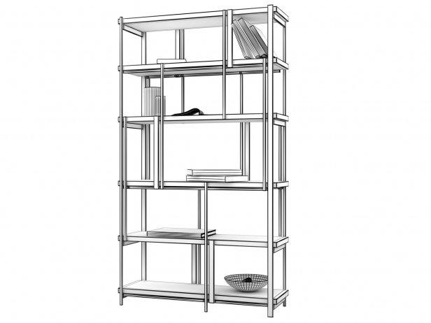 Mondrian Bookshelf 5