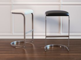 Chrome Cantilevered Bar Stool