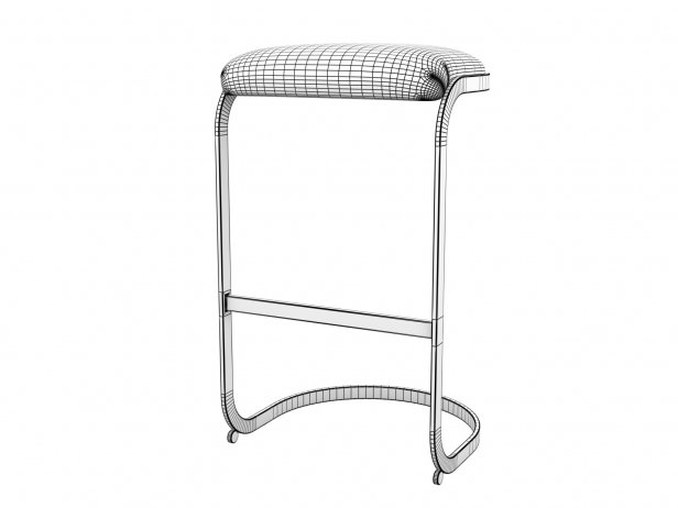 Chrome Cantilevered Bar Stool 5