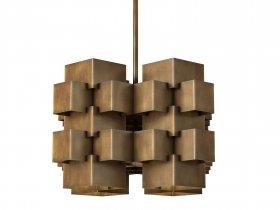 Cubist Geometric Chandelier