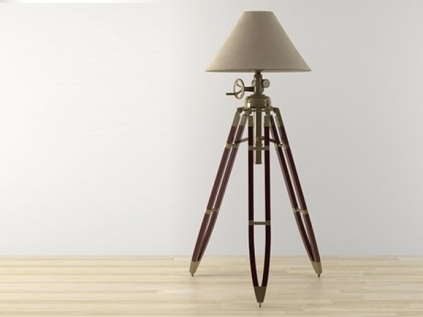 Tripod Floor Lamp 3d Model Restoration Hardware Usa