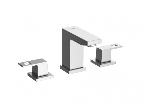 Cube Semi-recessed Basin 60 Set 2