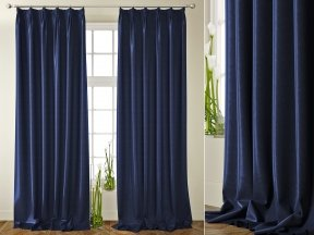Neoclassical Blue Solid Curtains