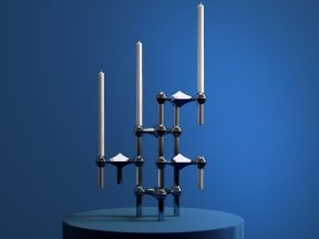 JUST RIGHT Werner Stoff Candle Holders