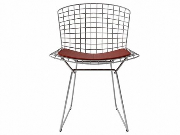 interiors by bertoia chair product knoll side in cowhide