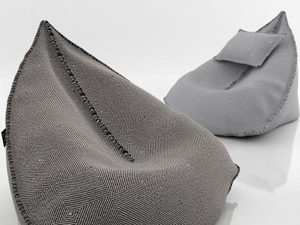 Sail bean bag 3d modell gandia blasco for Sessel 3d dwg