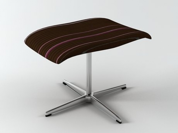 oxford footstool 3d modell fritz hansen. Black Bedroom Furniture Sets. Home Design Ideas