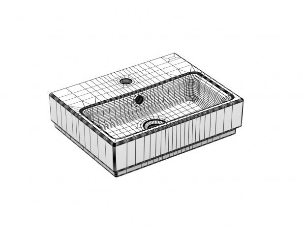 Cube Wall-hung Basin 45 Set 8