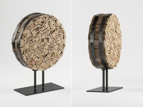 CRATE & BARREL Reclaimed Wood Sculpture