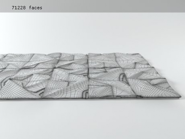 Geo Carved rug 11