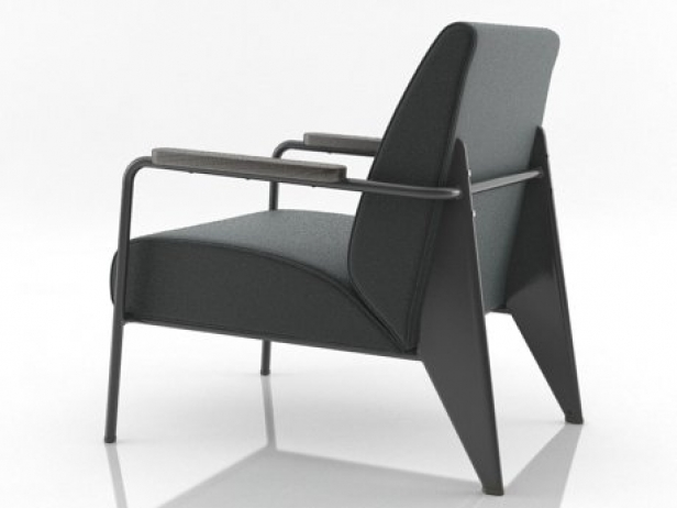 fauteuil de salon 3d model vitra. Black Bedroom Furniture Sets. Home Design Ideas
