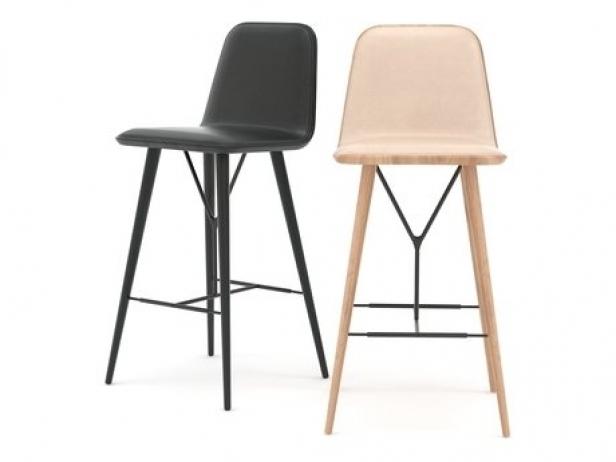 Spine barstool d model fredericia furniture