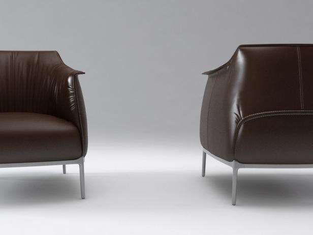 Archibald armchair 3d model   Poltrona Frau