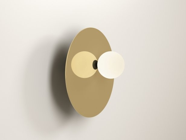 Disc and Sphere Asymmetric Wall Lamp 2