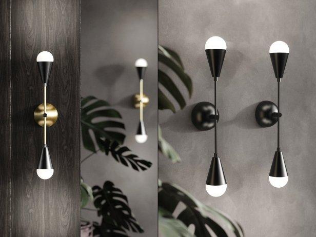 pretty nice 3cd34 98a26 Dyad Sconce Lamp 3d model | Apparatus, USA