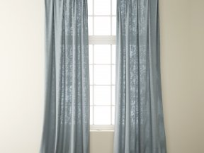 Country Light Grey Linen Curtains