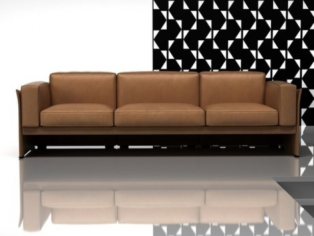 405 duc 3 seater sofa 3d modell cassina. Black Bedroom Furniture Sets. Home Design Ideas