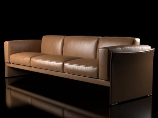 405 duc 3 seater sofa 3d modell cassina. Black Bedroom Furniture Sets. Home Design Ideas