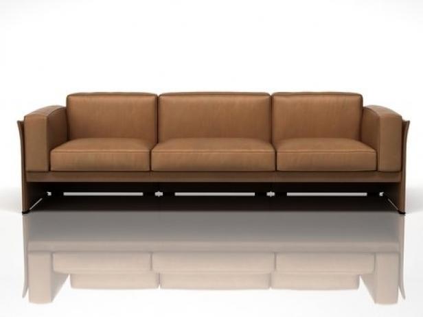 405 Duc 3 Seater Sofa 3d Model Cassina