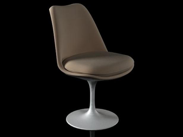 tulip chair 3d model knoll