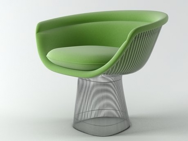 Platner Chair platner lounge chair 3d model | knoll
