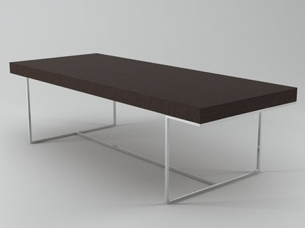 Athos table tas250f 3d model b b italia - B b italia athos dining table ...
