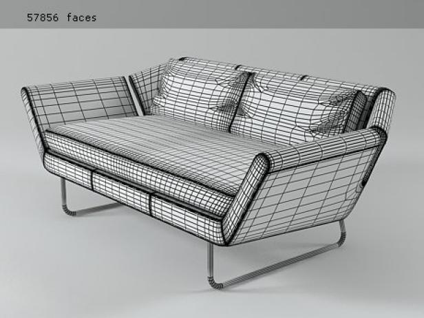 chill sofa 3d model piure. Black Bedroom Furniture Sets. Home Design Ideas