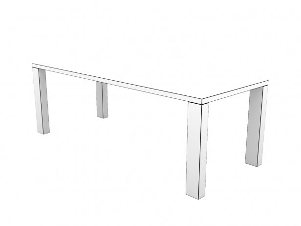 DS-777 Dining Table Wood 12