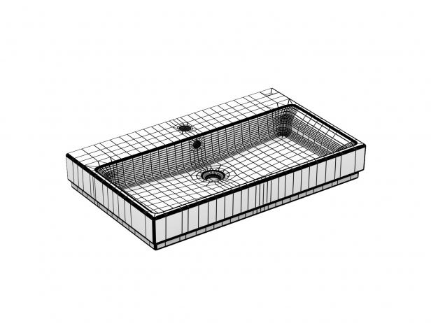 Cube Wall-hung Basin 100 Set 14