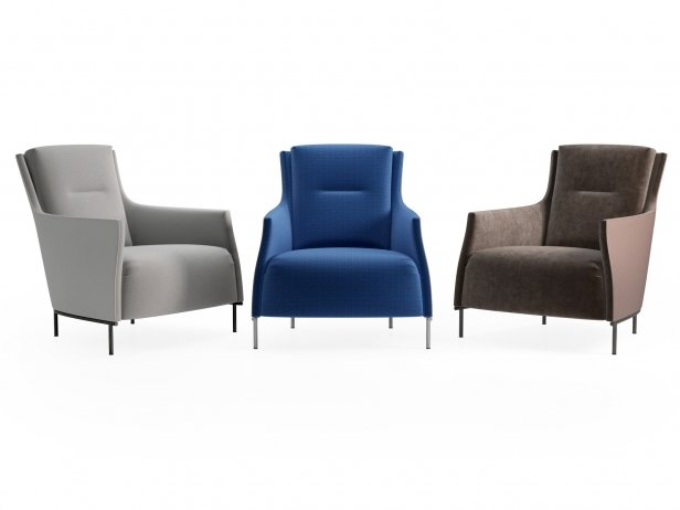 Riga Armchair Low Back New Base 2