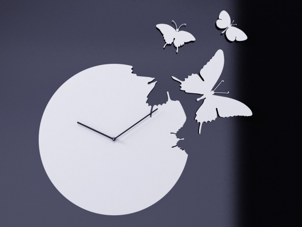 Butterfly Clock 3d Model Diamantini Amp Domeniconi Italy