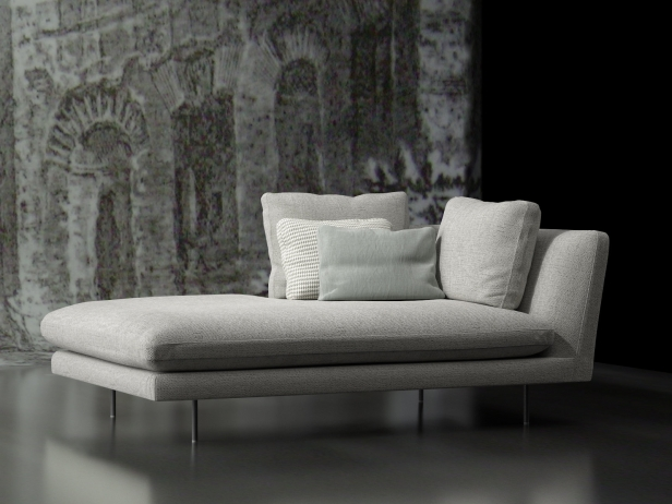 Design Bank Met Chaise Longue.Lars Chaise Longue 3d Model Bonaldo Italy