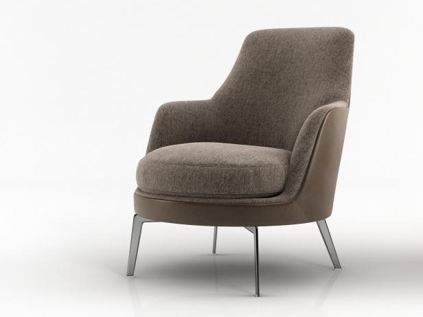 Guscio soft 3d modell flexform for Sessel 3d dwg
