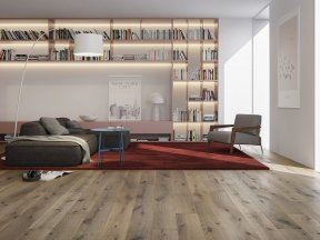 Rustic Oak Flooring with Silver Effect