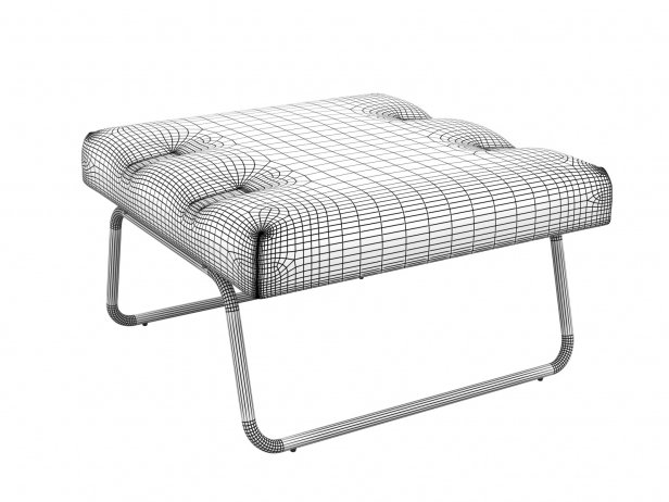 Hirche Outdoor Footstool 2