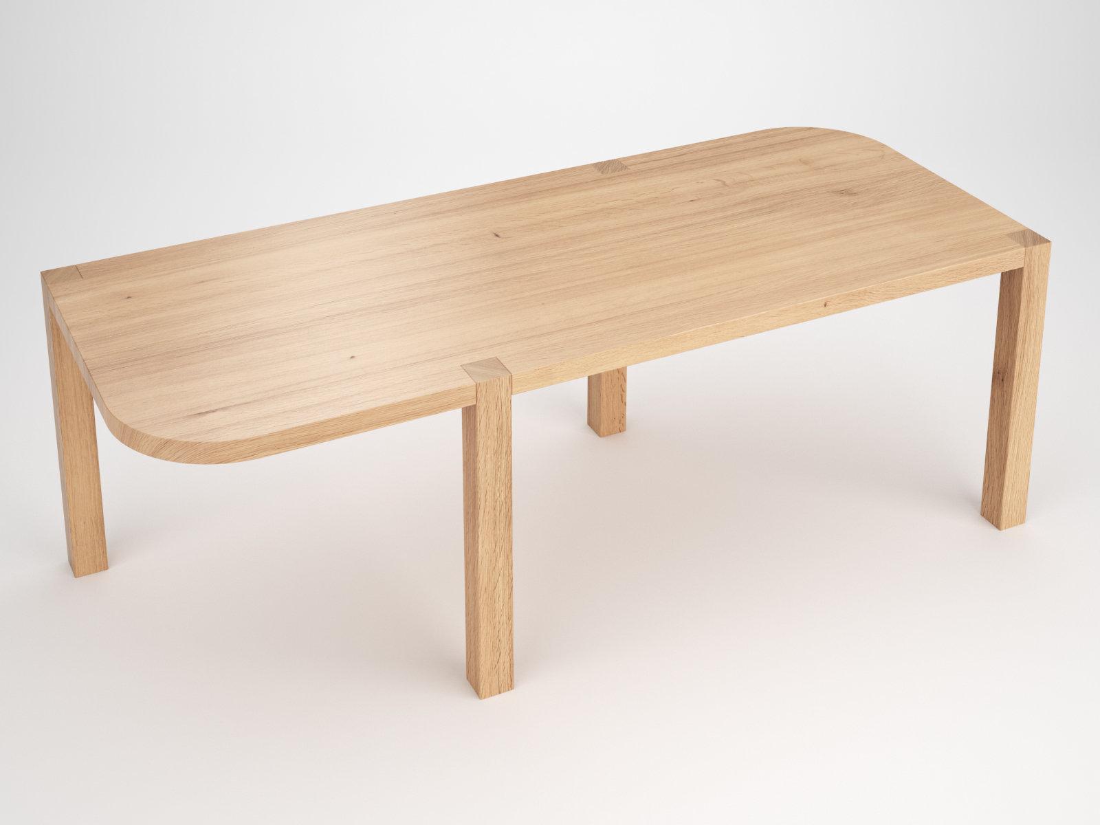 Off table 3d model atelier areti for Table design 3d