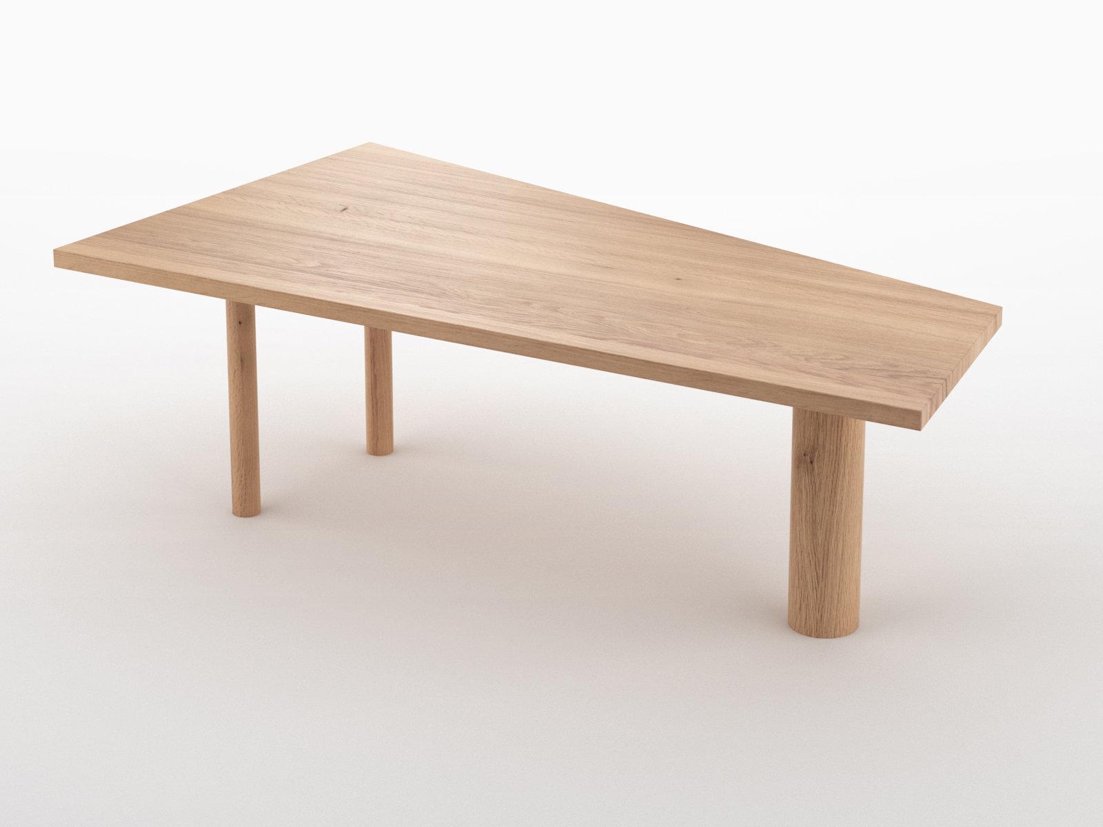 Trapez table 3d model atelier areti for 3d table design