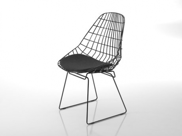 Sm05 Wire Chair 3d Model Pastoe Netherlands