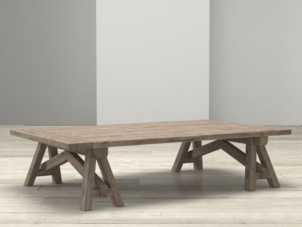 Benson Sawhorse Coffee Table 1