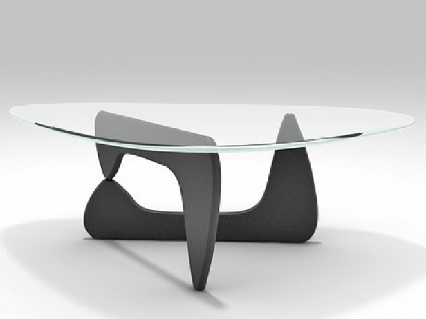 Très Noguchi Coffee Table 3d model | Vitra KU14