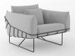 Wireframe armchair 2